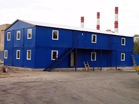 Блок контейнеры модульные здания (фотография)