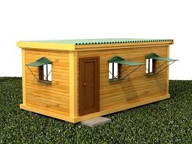 Бытовка дачная деревянная (картинка)